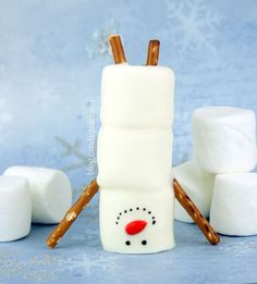 Too cold to build a snowman? Try making this handstand snowman instead!