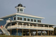 """Tampa Bay Watch weddings - View of the Tampa Bay Watch """"lighthouse"""" and balcony on Tierra Verde FL near St Pete Beach and Fort Desoto."""