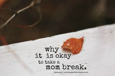 """Oh my so true, but I don't do it  """" in order to give, you must make sure that you are replenished..."""" thoughts on the need to step back, recharge, and take breaks. {finding joy}"""