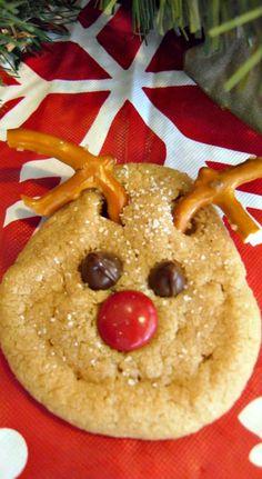 Super Easy Reindeer Peanut Butter Cookies Recipe