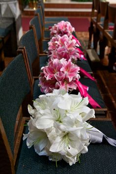 Pink oriental lily bouquets