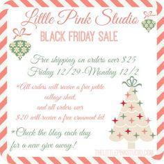 free gift, pink studio