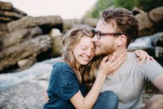 Andrew & Sydney | Escape to a Waterfall Engagement Session