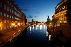 stockholm, night, place