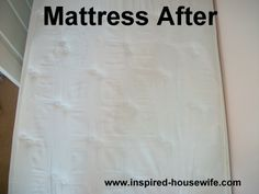 clean mattress, cleaning stains, pee stain, stain removers, hydrogen peroxide, matress cleaning, bottles, baking, measuring cups