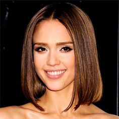 jessica alba hair: such a flattering length