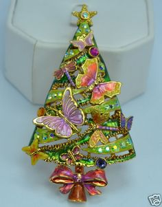 Kirks Folly on The Wings of Love Butterfly Christmas Tree Pin Pendant
