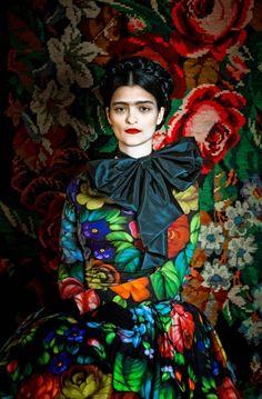 Frida Kahlo inspired editorial by creative studio