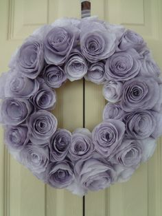 DIY coffee filter wreath!
