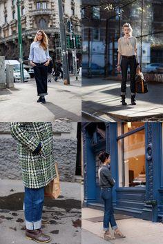 fashion, sartorialist, cloth, style, jeans, inspir, wear, cuf jean