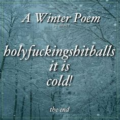 Winter Poem...