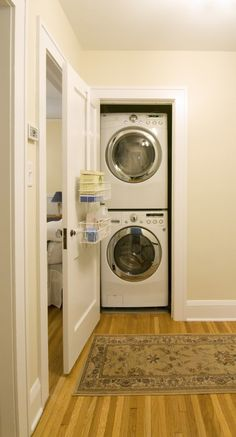 laundry closet for second floor-- a must!