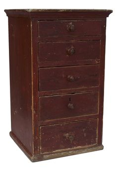 *Sigh!!*  I LOVE LOVE little drawer chests!!!  ---Early 19th century set of graduated drawers, in a dovetailed case with with dovetailed drawers