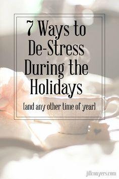 7 Ways to Destress D