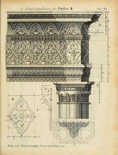 Detail of an entablature design