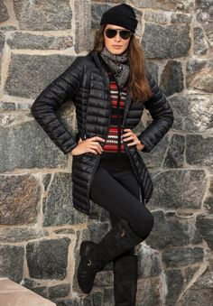 Elevate your après-ski look in Lauren's modern take on a classic puffer