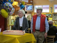 Bob and Charlee celebrate Bob's 82nd at our Whole Grain Store. Aren't they adorable?