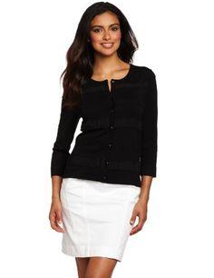Jones New York Women`s Ruffle Detail Cardigan Sweater $99.00