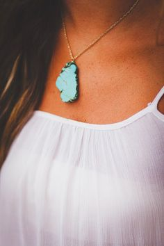 Cassie Necklace - Turquoise – Pretty Pants