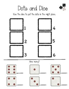 This free product is used with dots and dice....