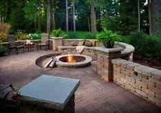 fire pit, back yard ideas