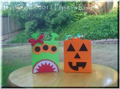 PRB28 Halloween Creatures Box Template SVG PDF  by PepitosRoom, $6.00