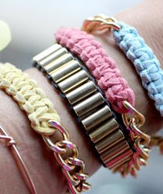 diy chain bracelets, so cute