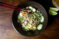 cold buckwheat noodles with miso and ginger by smitten, via Flickr