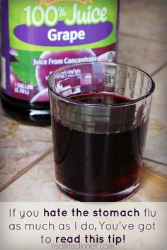 Prevent Stomach Flu with 100 Grape Juice 1