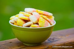 Kathie Cooks...: Candy Corn Sugar Cookies