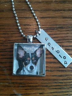Pet Memorial Necklace with Photo & by SeaBreezeArtWorks on Etsy