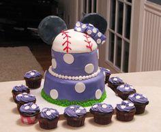 Minnie Mouse baseball cake