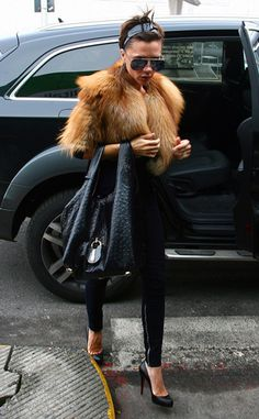 Victoria Beckham - Wearing fur is wrong. CS. supports PETA in its pursuit of banning fur worldwide.