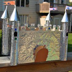 Замок из коробок своими руками картинки 42