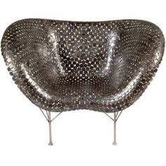 Uber modern molded armchair made from pennies