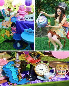 Alice In Wonderland 15th Un-birthday Party Full of Cute Ideas via Kara's Party Ideas   KarasPartyIdeas.com #AliceInWonderland #Unbirthday #Rainbow #partyideas