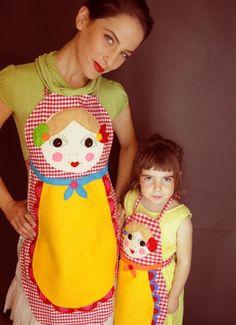 costura, matryoshka, craft, idea, delantal, avent, doll apron, aprons, babushka