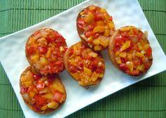 Bell Pepper Bruschetta Crostini Recipe - Delish - Vegan in the Freezer