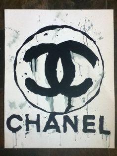 chanel watercolor