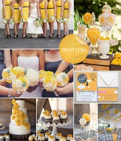 Fall 2014 Wedding Trends.  Misted Yellow