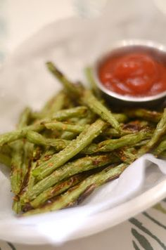 {IRON + TWINE}: Baked Green Bean Fries , made these tonight and they were delicious! :) yum!