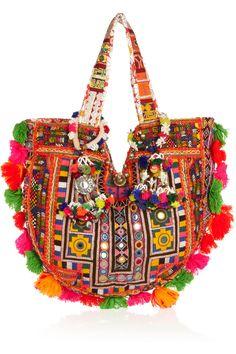Finds + Muzungu Sisters embellished cotton-blend tote NET-A-PORTER.COM
