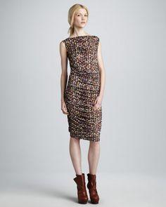 Balcony-Print Dress by Catherine Malandrino at Neiman Marcus.