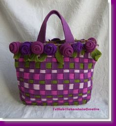 Woven Felted Tote DIY - with flowers!