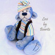 Levi, a OOAK German Mohair Bear by Janice Davidson of Bearitz