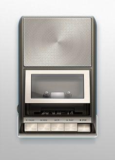 Deck Player #illustration #cassette #retro #photoshop