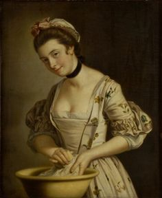 A Lady's Maid Soaping Linen, Henry Robert Morland (between 1765 and 1782)