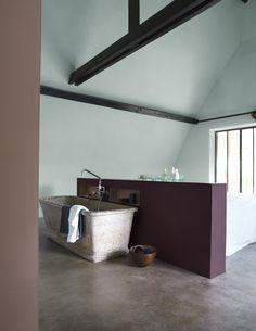 Interieur muur kleuren on pinterest vans wands and cuddle couch - Kleuren muur toilet ...