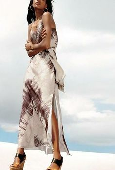 Summer nights call for a chic tie dye maxi dress | Vince Camuto