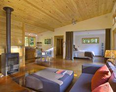 Modern Cabin - modern - living room - burlington - Joan Heaton Architects